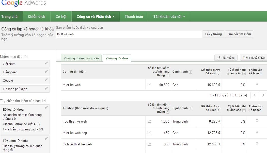 1384513515 google planner3 Công cụ lập kế hoạch từ khóa Google Keywords Planner