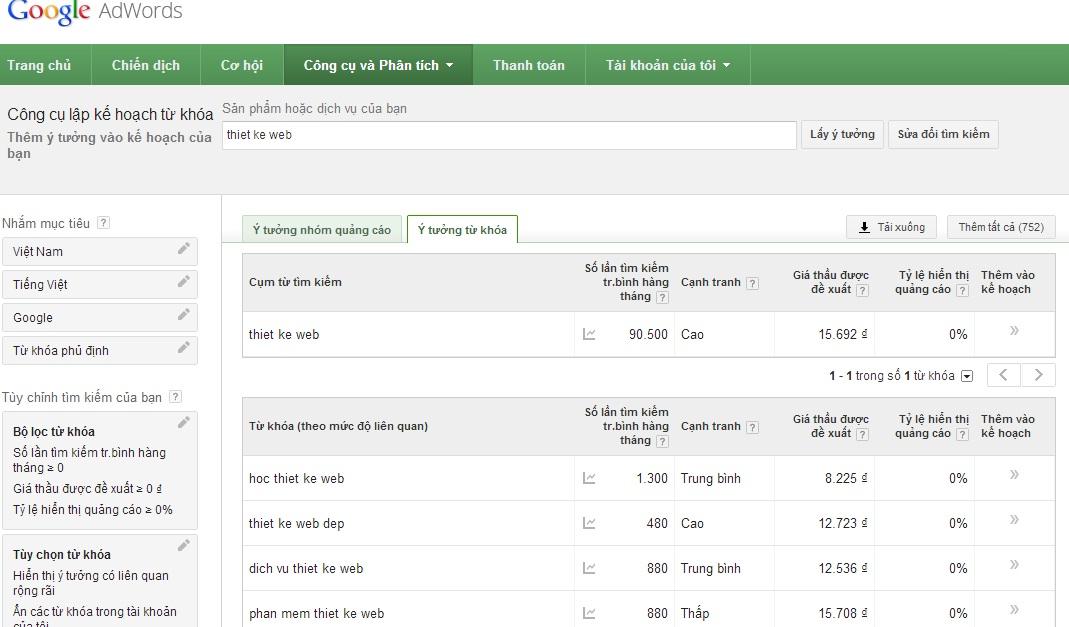 1384513548 google planner4 Công cụ lập kế hoạch từ khóa Google Keywords Planner