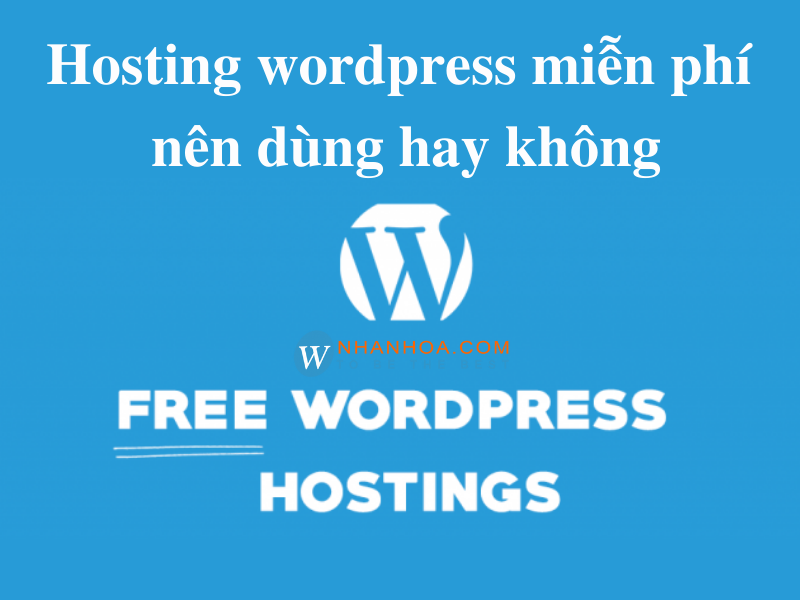 hosting wordpress miễn phí