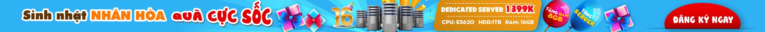 Thuê máy chủ Server Riêng Giá Rẻ Bảo Mật Tốt Nhất Nhân Hòa