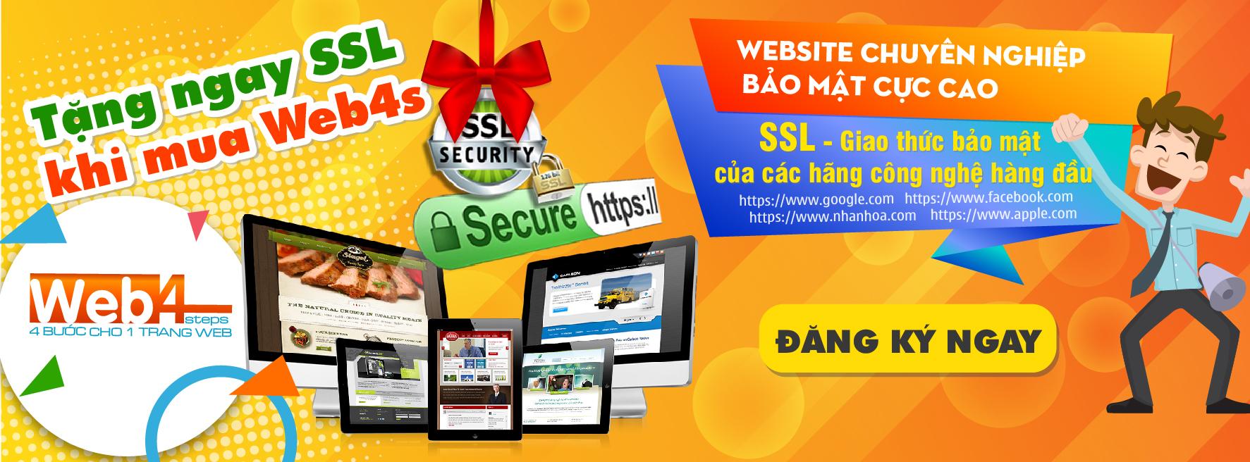 Tặng SSL khi đăng ký Web4s