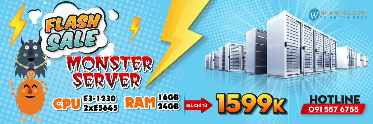 Monster Server Chỉ 1599K